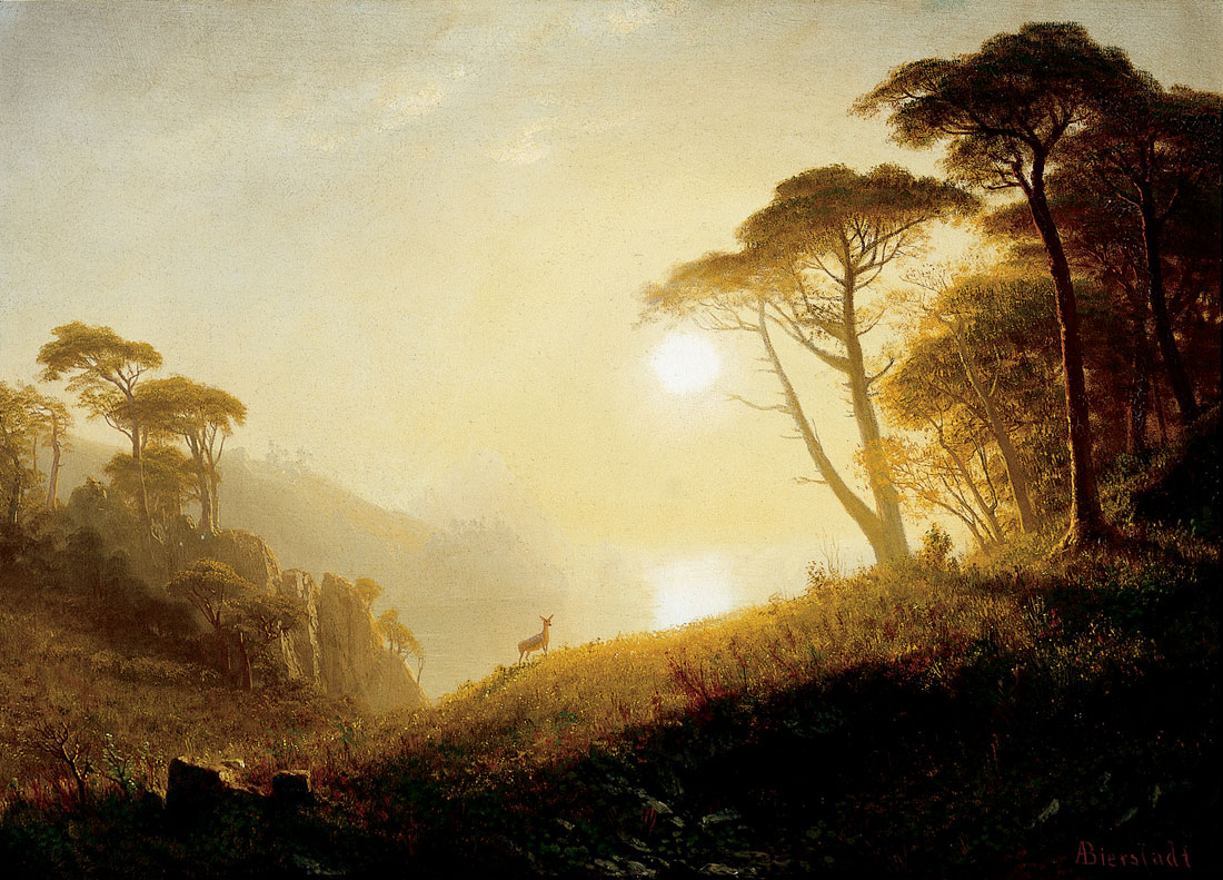 Albert Bierstadt – SCENE IN YOSEMITE VALLEY
