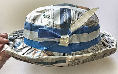 Upcycled Newspaper Hats