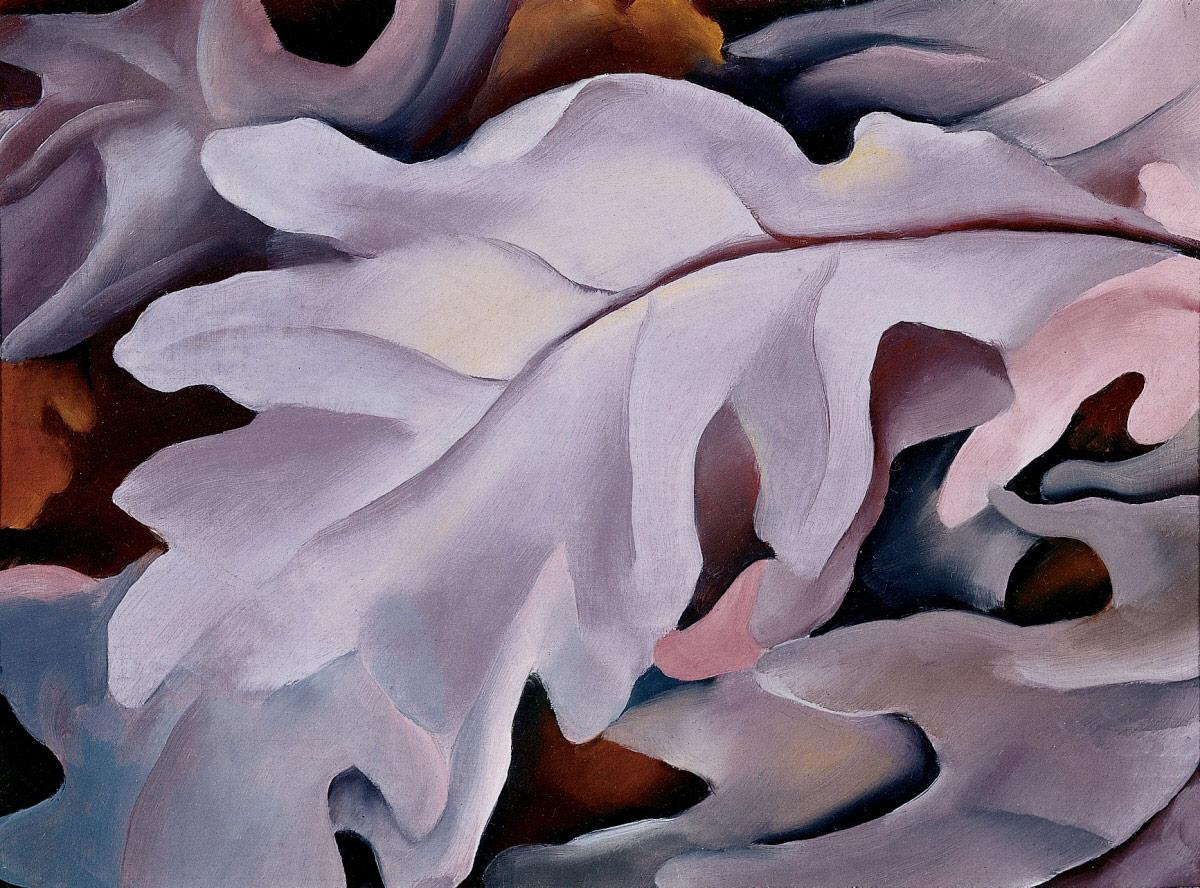Georgia O'Keeffe - PURPLE LEAVES