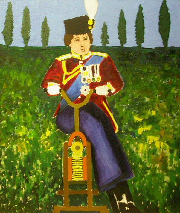 painting of Boy in Uniform