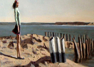 Hughie Lee-Smith – WOMAN IN GREEN SWEATER