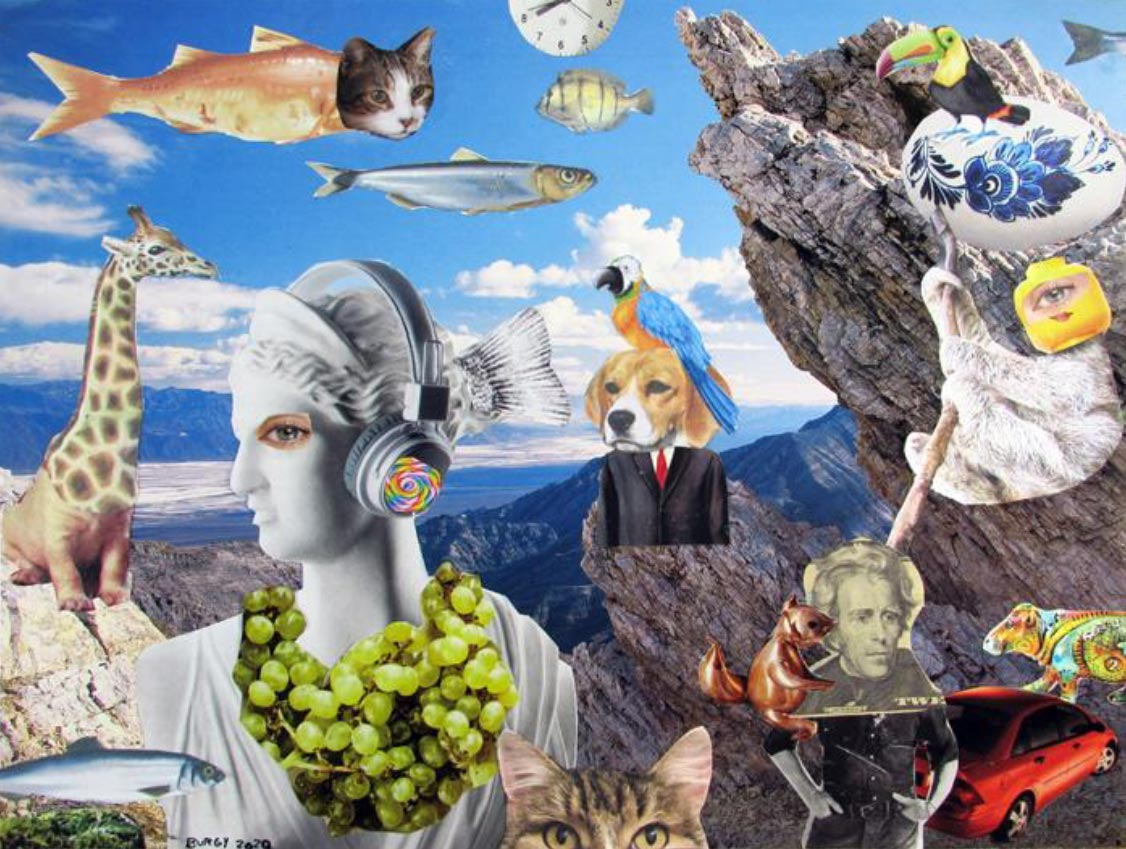 surreal collage