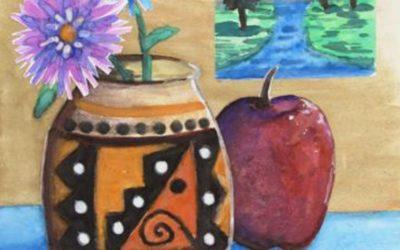 Watercolor Still Life Collage