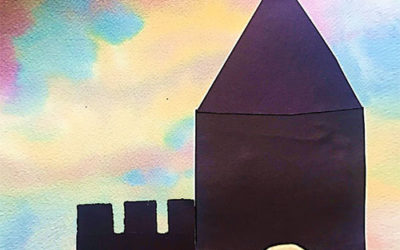 Watercolor Castle Silhouettes
