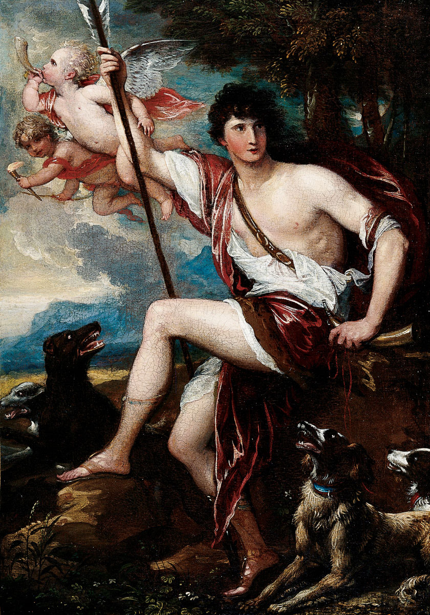 Benjamin West - Adonis with His Dogs
