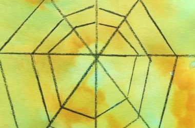 Spider Web Fizzy Art