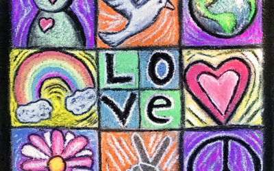 Shaping Peace Together: Collaborative Chalk Mural