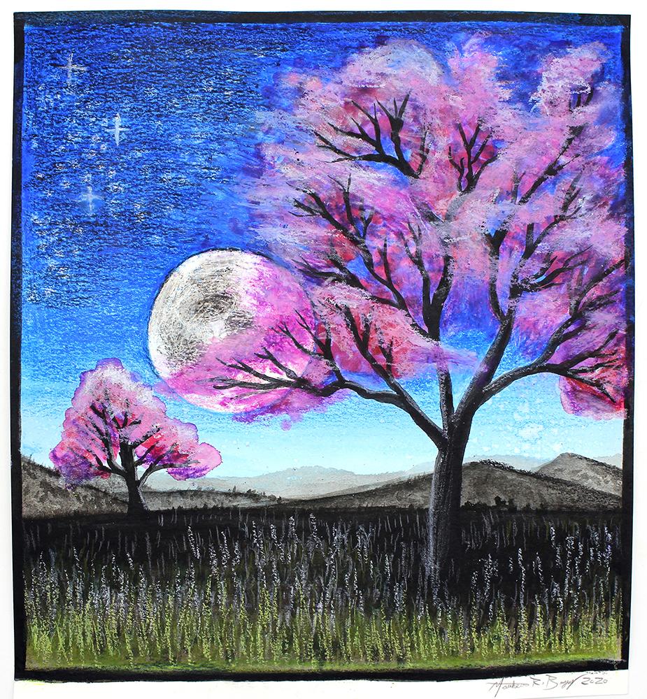 Japanese Cherry Tree Painting