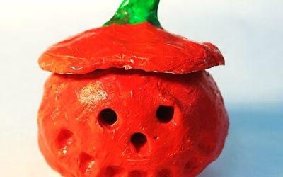 Jack-o-Lantern Pinch Pots