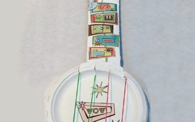 Paper Plate Guitar
