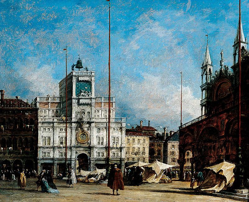 Francesco Guardi, The Clock Tower, Venice, about 1760