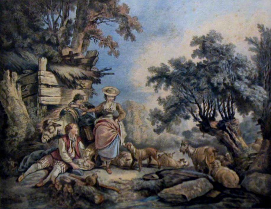 Gilles Demarteau The Elder, Grand Pastorale, No. 601, 1770s