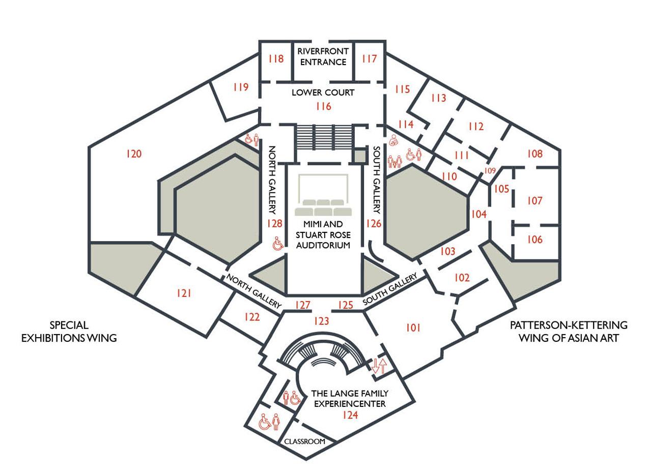 DAI Lower Floor Gallery Map