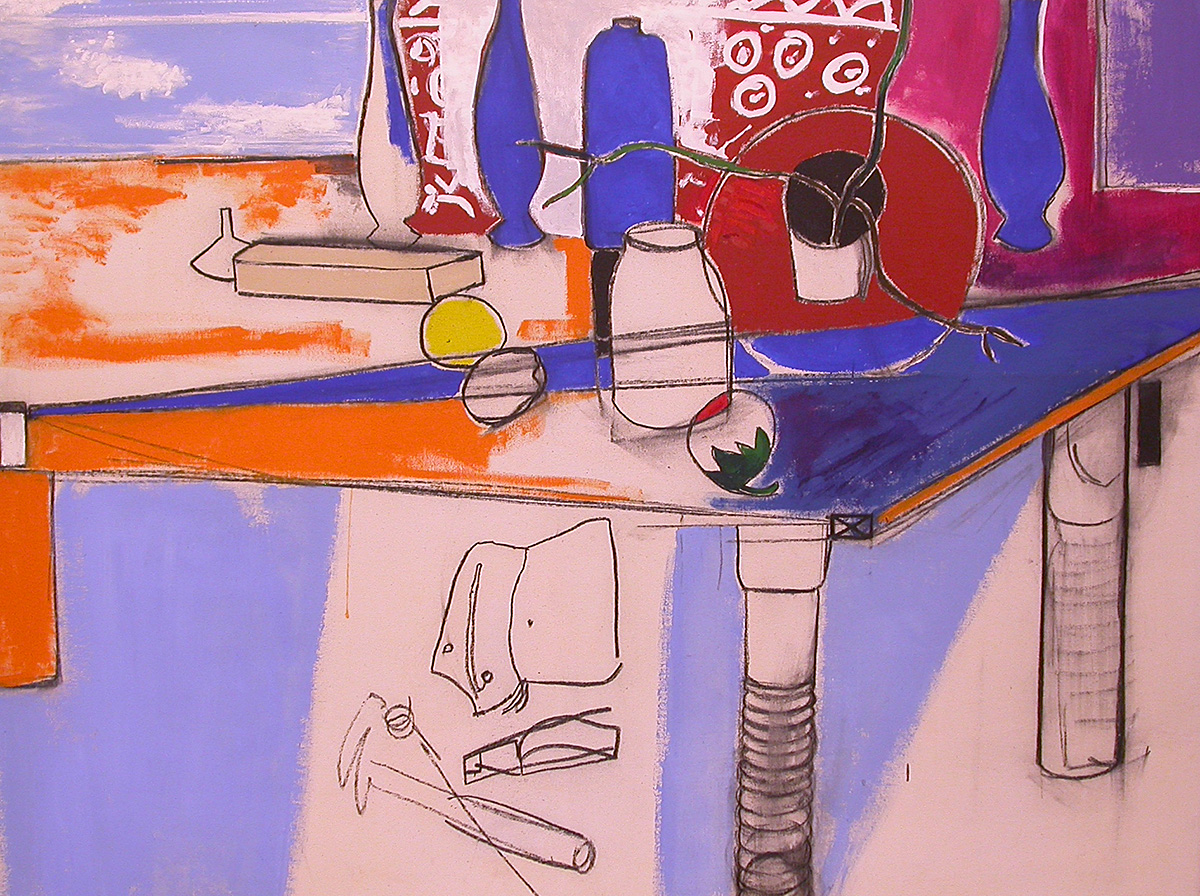 The featured artwork for this lesson is Anne Tabachnick's Indoor-Outdoor Still Life, created in 1966