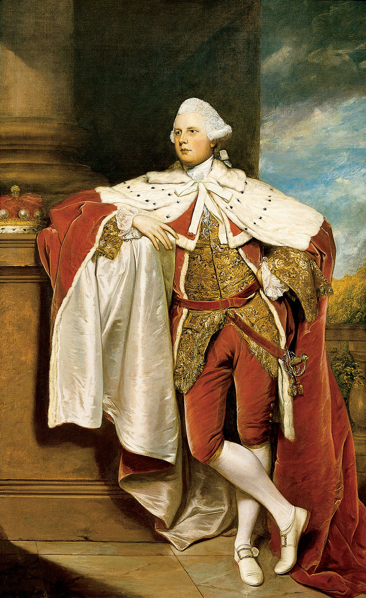 This image shows the portrait of Henry, 8th Lord Arundell of Wardour, painted by Sir Joshua Reynolds around 1764-1767.