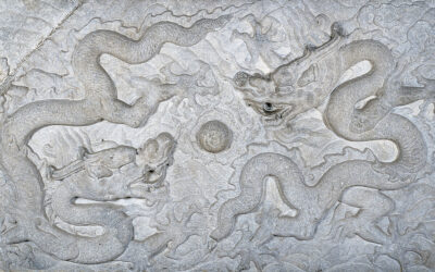 Relief with Design of Dragons